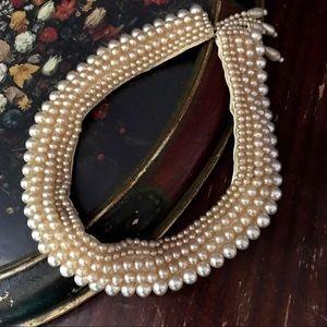 Vintage Faux Pearl Collar